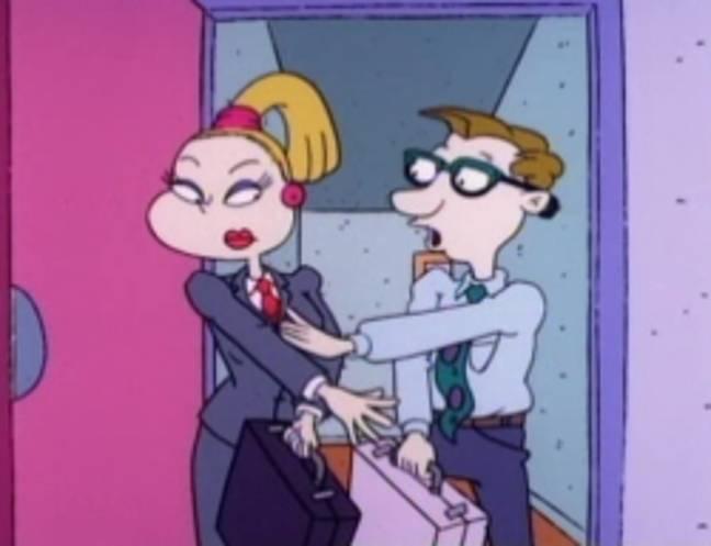 Drew Pickles et sa femme Charlotte.  Crédit : Nickelodeon