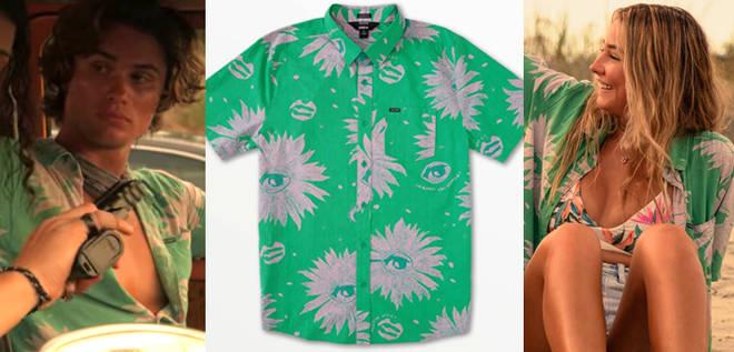 Où acheter la chemise verte à imprimé fleuri de Sarah Cameron dans Outer Banks 2