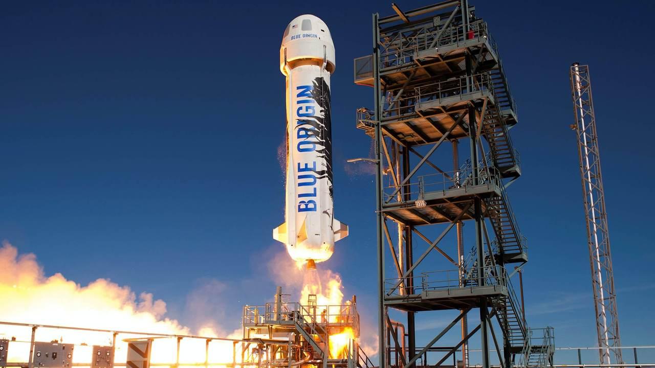 La fusée New Shepherd de Blue Origin.  Crédit image: Blue Origin