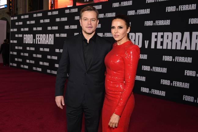 Matt Damon et sa femme Luciana Bozán Barroso.  Crédit : PA
