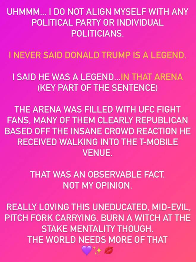 Megan Fox partage une déclaration après Trump