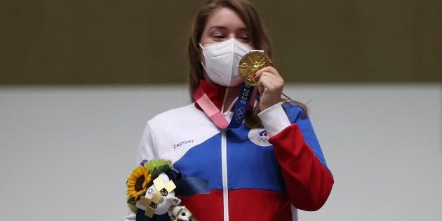 A remporté une médaille d'or à Tokyo 2020 avec une breloque The Witcher !