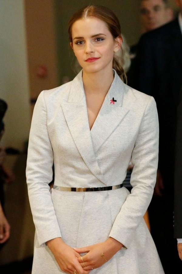 Emma Watson le jour où elle a lancé le mouvement HeForShe.  Photo: (Getty)