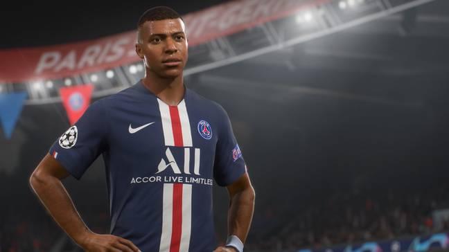 L'attaquant du Paris Saint-Germain Kylian Mbappe sera à nouveau la vedette de la FIFA cette année (Crédit: EA)