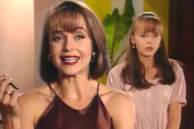 Daniela Spanic était la sœur jumelle de l'Usurpateur.  Elle était le sosie de sa sœur dans certains chapitres de la telenovela mexicaine (Photo: Televisa)