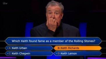 Clarkson n'arrivait pas à croire que la question avait bloqué Conor.  Crédit : ITV