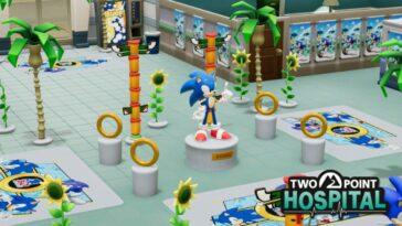 Sonic se précipite dans l'hôpital Two Point sur PS4 aujourd'hui avec des costumes et des décorations gratuits