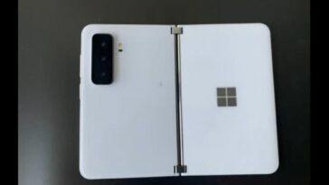 Surface Duo 2: L'image De Fuite Montre Une Triple Caméra