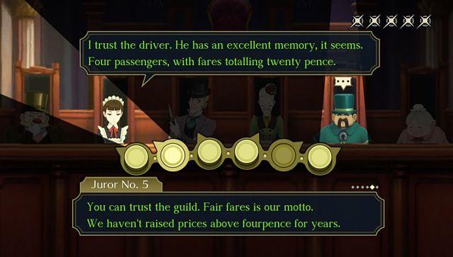 Capture d'écran de The Great Ace Attorney Chronicles.