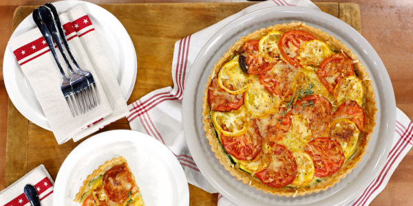Tarte Tomate Courgettes