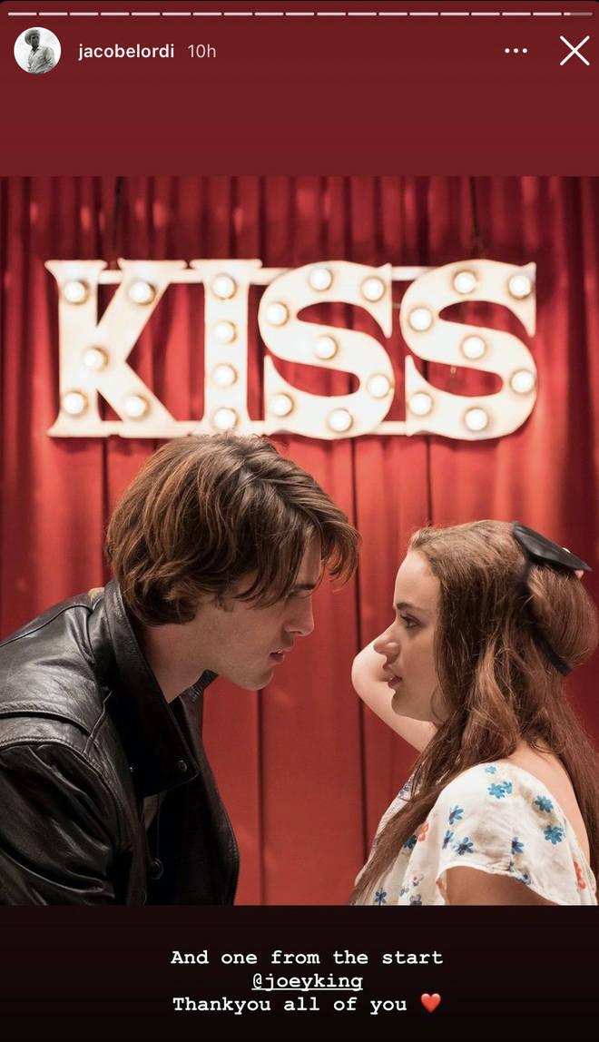 Jacob Elordi remercie Joey King après le dernier film de Kissing Booth