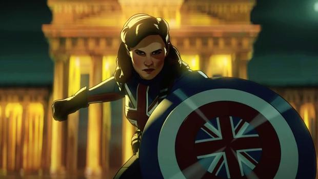"""Peggy Carter se sacrifie à la fin du premier épisode de """"Et si ..?""""  (Photo : Marvel/Disney+)"""
