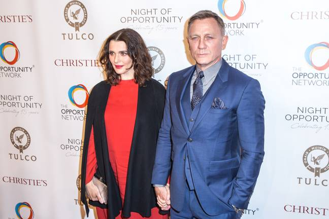 Craig avec sa femme Rachel Weisz.  Crédit : PA