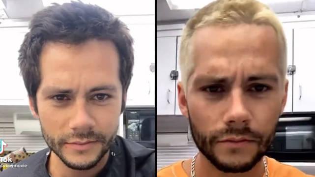 Dylan O'brien Teint Les Cheveux En Blond Et Se Fait