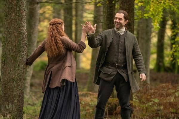 Roger et Brianna pourraient prendre la tête d'Outlander.  Photo : (Starz)