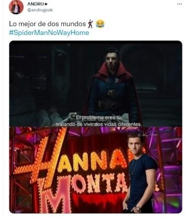 Le tweet liant Tom Holland à Hannah Montana.
