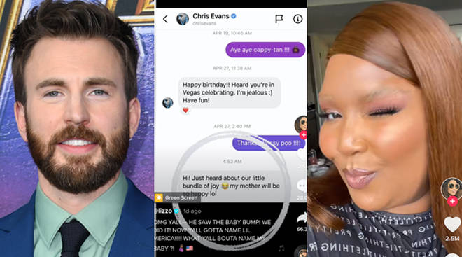Lizzo partage la réponse de Chris Evans à sa « rumeur de grossesse » TikTok