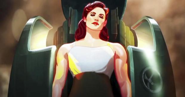 Peggy Carter remplace Steve Rogers et devient le premier super soldat (Photo : Marvel/Disney+)