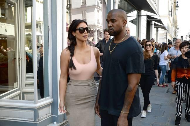 Kim Kardashian et Kanye West.  (Crédit: PA)