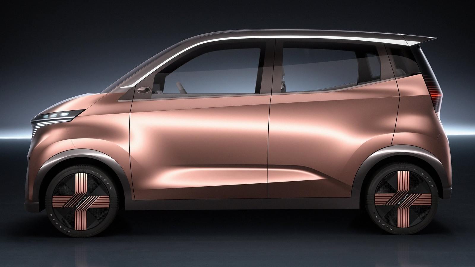 La microvoiture électrique de Nissan sera également dotée de systèmes avancés d'aide à la conduite.  Image : Nissan
