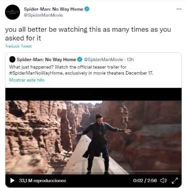 La demande sarcastique de la production Spiderman.