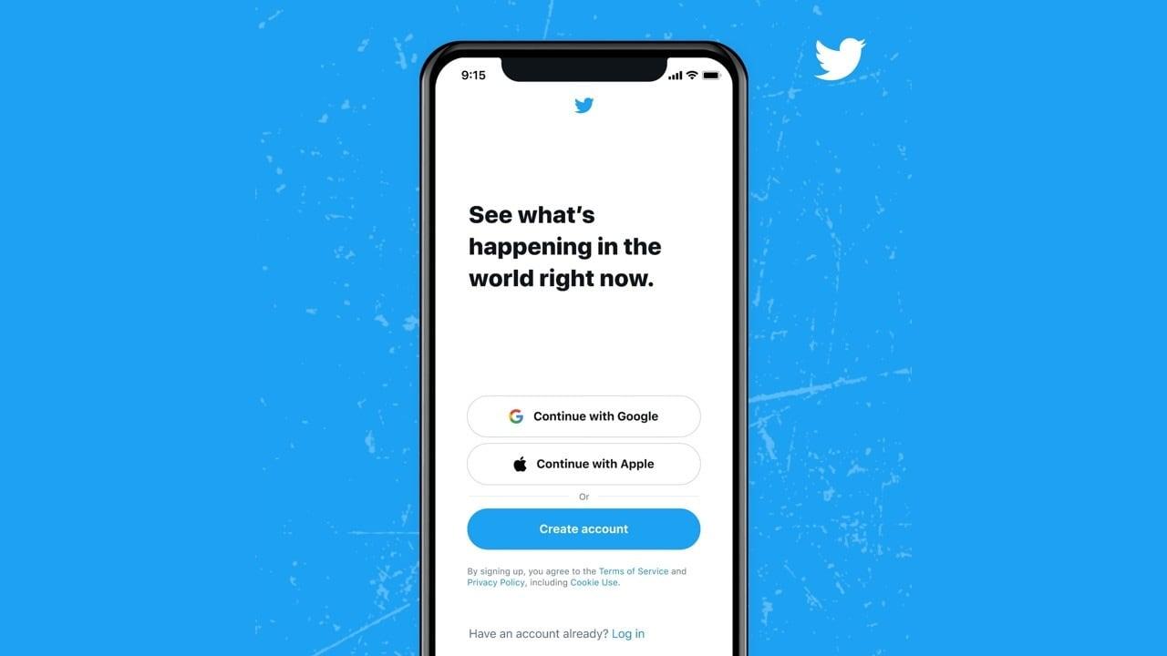 Les Utilisateurs De Twitter Pourront Désormais Se Connecter/s'inscrire Via Un