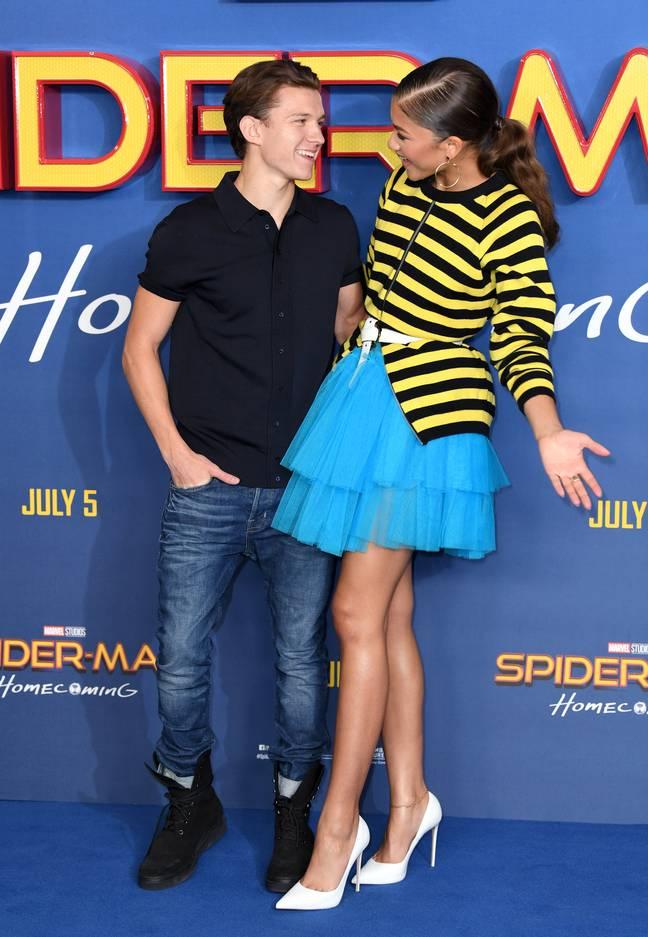 Tom Holland et Zendaya au Spider-Man: Homecoming photo call à Londres en 2017. (Crédit: PA)