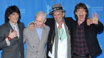 Photo de février 2008 des membres des Rolling Stones Mick Jagger, Keith Richards, Ron Wood et Charlie Watts.  (Crédit: PA)