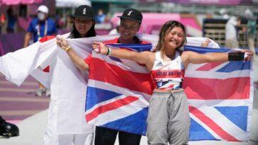 Sky Brown est le plus jeune athlète à concourir pour l'équipe GB.  Elle a remporté une médaille de bronze en skateboard à 13 ans. (Crédit: PA)