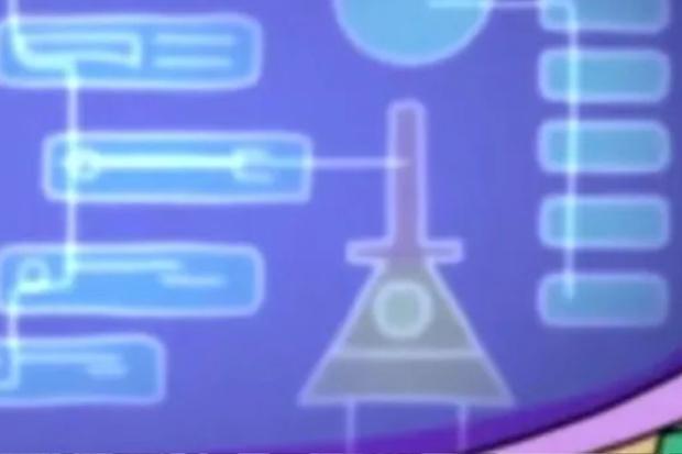 Une image d'un triangle s'affiche sur l'un des écrans d'analyse.