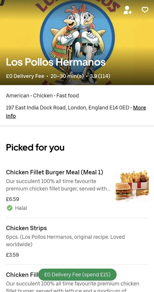 Crédit: Uber Eats