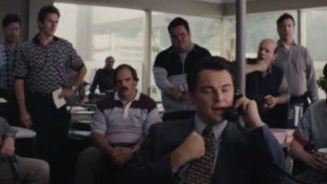 Scène de Di Caprio dans le Loup De Wall Street