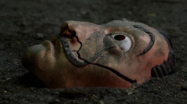 Máscara de Dalí utilizada en serie.  Foto: (Netflix)