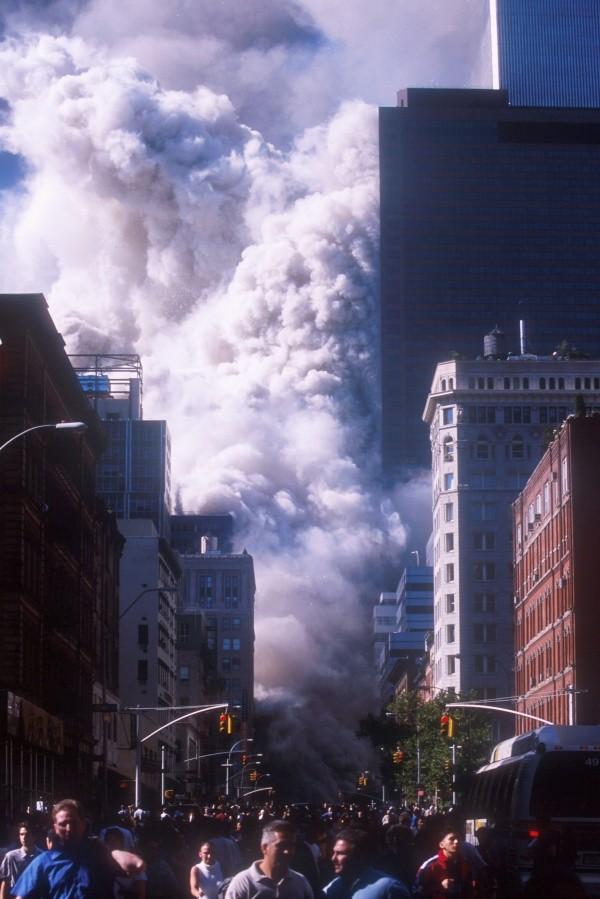 Les tours jumelles en feu.  Photo: (Getty)