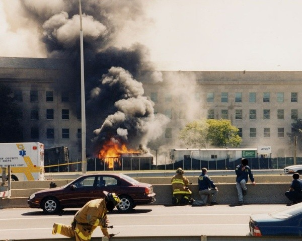 Le pentagone a également brûlé.  Photo: (Getty)