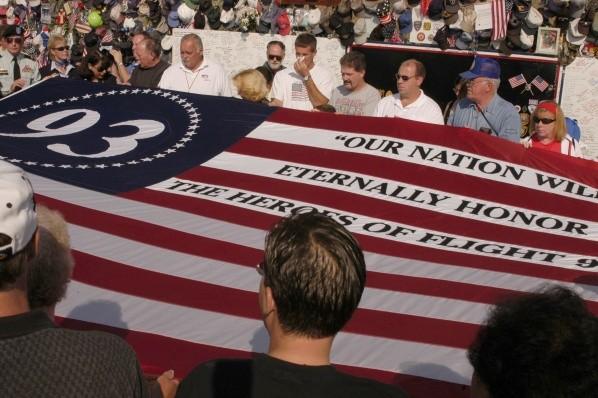 États-Unis à l'occasion du deuxième anniversaire de la commémoration des héros du vol 93. Photo: (Getty)