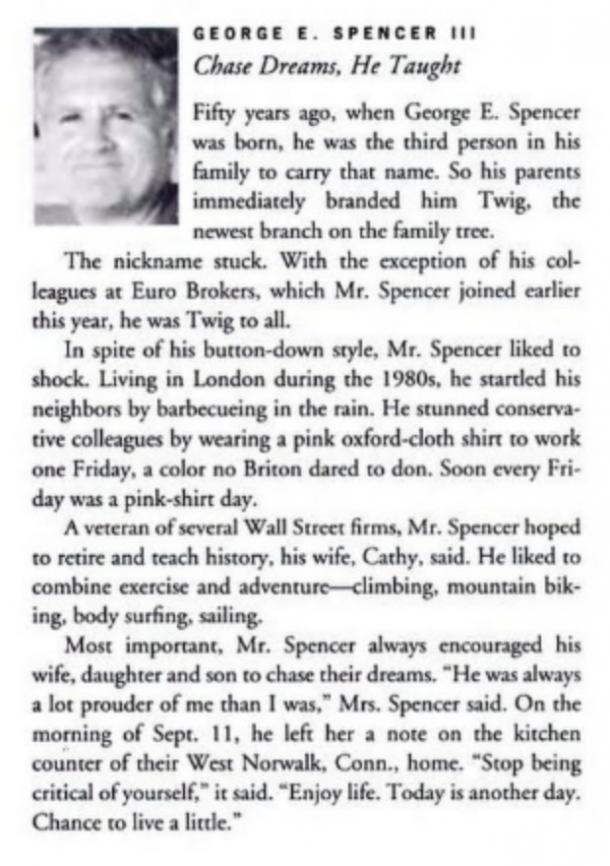 Nécrologie de George Spencer