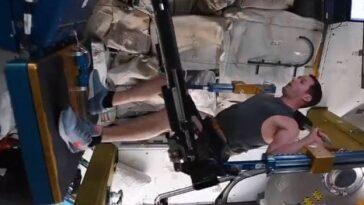 La Vidéo De «l'entraînement Spatial» De L'astronaute Français à Bord