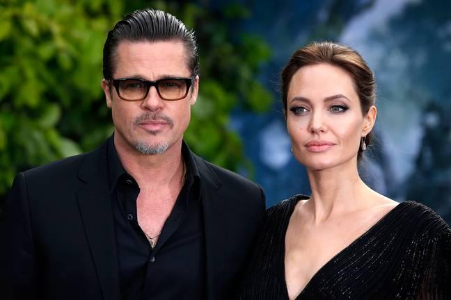 Angelina Jolie et Brad Pitt et la première de Maléfique en 2014. (Crédit: PA)
