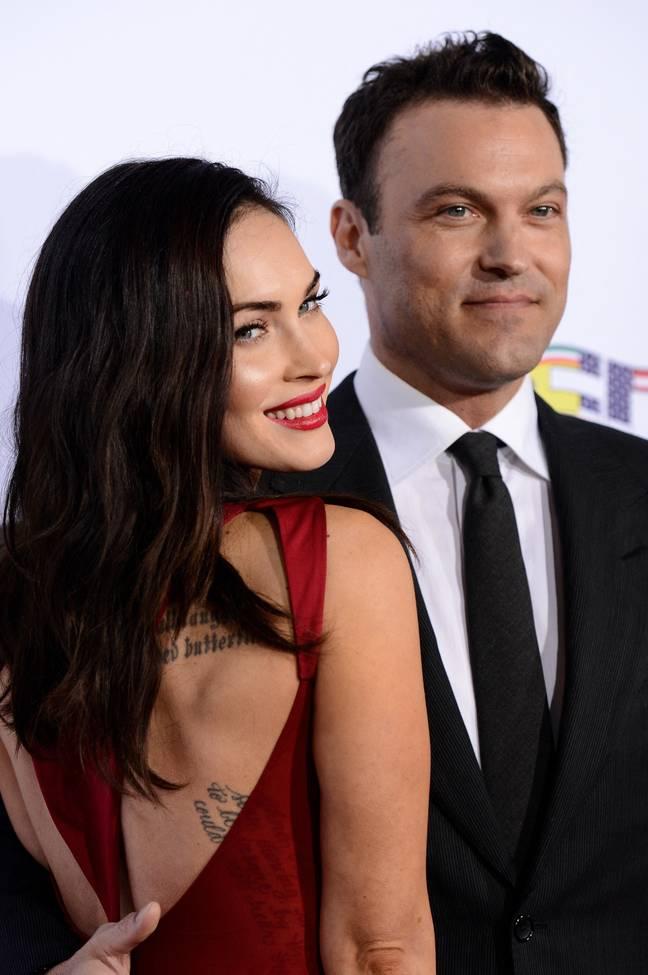 Megan Fox et son ex-mari Brian Green en octobre 2014. (Crédit: PA)