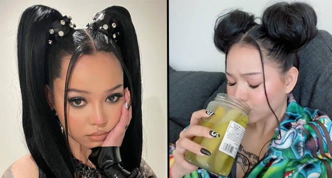 Bella Poarch boit du jus de cornichon directement du pot dans TikTok viral