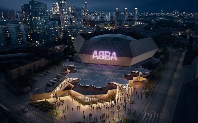 L'ABBA Arena à Londres.  (Crédit: Instagram/@abbavoyage)