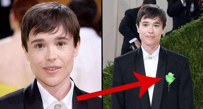 Elliot Page porte un costume avec une puissante signification cachée pour le premier tapis rouge depuis son arrivée en tant que trans