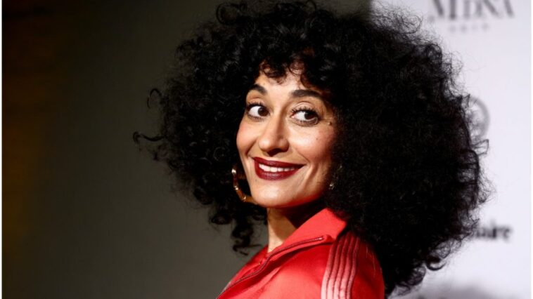 Emmys 2021: Nominee Tracee Ellis Ross smiling at the camera while attending an event.