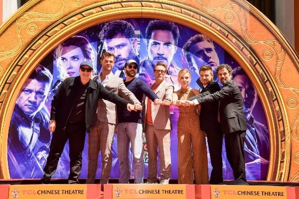 Les Avengers avec Kevin Feige.  Photo: (Getty)
