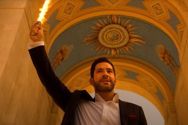 """""""Lucifer"""" est revenu du ciel et est devenu Dieu (Photo : Netflix)"""