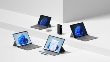 Microsoft Lance Surface Pro 8, Surface Go 3, Surface Duo