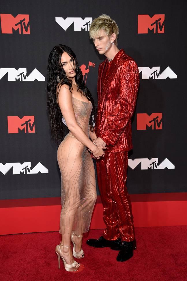 MGK et Megan Fox aux MTV Video Music Awards 2021. (Crédit: PA)