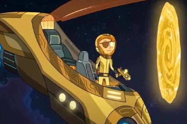 Dans la saison 5, Morty avait son propre vaisseau spatial (Photo: Warner Bros)