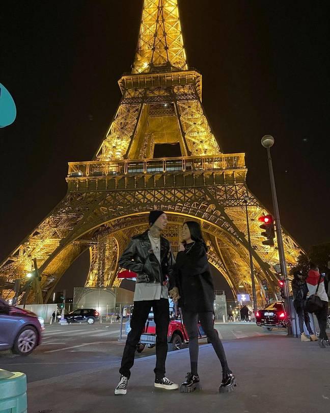 Travis et Kourtney ont également apprécié un voyage à Paris.  Crédit : Instagram/@travisbarker